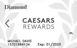 Harrah's Casino Multi-Property - CR Diamond Slot Card @2019 With LVC-00266583AW - Cartes De Casino