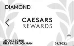 Harrah's Casino Multi-Property - CR Diamond Slot Card @2019 With C3-00266583AW - Cartes De Casino