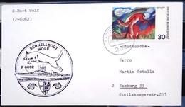 """ALLEMAGNE Rep.Fédérale - BUND - Brief Mit Schiffspost-Stempeln, Dabei """" WOLF """" - [7] West-Duitsland"""