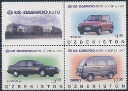 Mi 154-56 MNH ** Zierfeld / Uzbek-Korea Joint Venture Uz-Daewoo Auto Car - Uzbekistán