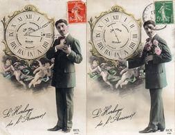 Montre Horloge De L'amour, Je Vous Aime Homme Ange (rex 4086 - Coppie