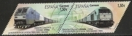 2019-ED. 5322 Y 5323 EN PAREJA- La Nueva Ruta De La Seda. España-China -USADO - 2011-... Gebraucht