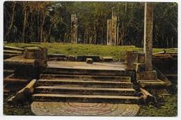 Moon Stone And Steps, King's Palace, Anuradhapura - Sri Lanka (Ceylon)