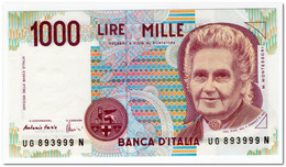 ITALY,1000 LIRE,1990,P.114,UNC - 1000 Lire