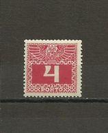 Austria - Porto 1908/13 - Mi. 36 MH (*) - Portomarken