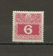 Austria - Porto 1908/13 - Mi. 37 MH (*) - Portomarken