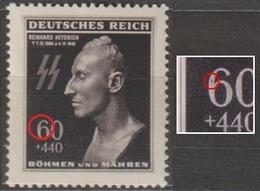 7/ Bohemia & Moravia; ** Nr. 111 - Plate Error, Stamp Position 91 - Bohemia Y Moravia