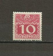 Austria - Porto 1908/13 - Mi. 38 MH (*) - Portomarken