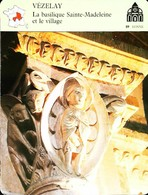 VEZELAY  - Village Et Basilique - Photo Daniel Dans La Fosses Aux Lions - FICHE GEOGRAPHIQUE - Ed. Larousse-Laffont - Géographie