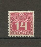 Austria - Porto 1908/13 - Mi. 39 MH (*) - Portomarken