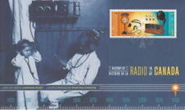 CANADA 2020  OFDC  HISTORY OF RADIO In CANADA  Mnh - Primi Giorni (FDC)