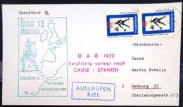 """ALLEMAGNE Rep.Fédérale - BUND - Brief Mit Schiffspost-Stempeln, Dabei """" ZERSTÖRER 2 """" - [7] West-Duitsland"""
