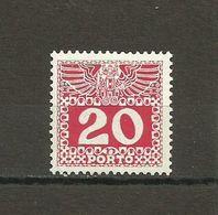Austria - Porto 1908/13 - Mi. 40 MH (*) - Portomarken