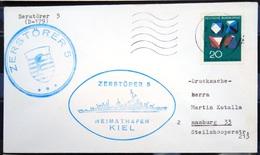 """ALLEMAGNE Rep.Fédérale - BUND - Brief Mit Schiffspost-Stempeln, Dabei """" ZERSTÖRER 5 """" - [7] West-Duitsland"""
