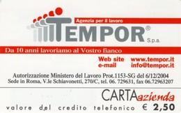 *CARTA AZIENDA 2° Tipo: TEMPOR SPA - Cat. 810* - NUOVA (MINT) (DT) - Italie