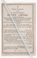 EERW.HEER GUSTAVE LIMPENS ° GAND 1839 + 1881 / BACHELIER EN THÉOLOGIE/ EVÉQUE AU CONCILE DE BALLIMORE - Images Religieuses