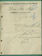 17 Clérac Par Montguyon Fabrique De Chaussons Feutre Denis Fils Ainé 28 Septembre 1905 - Textile & Vestimentaire