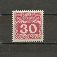 Austria - Porto 1908/13 - Mi. 42 MH (*) - Portomarken