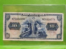 10 Zehn Deutsche Mark, Série 1949 - [ 7] 1949-… : RFA - Rép. Féd. D'Allemagne