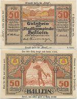 Hallein Bei Salzburg, 1 Schein Notgeld 1920, Salz, Fabrik, Österreich 50 Heller - Autriche