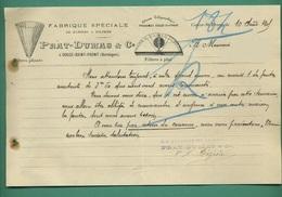 24 Couze Saint Front PRAT - DUMAS Papiers à Filtrer Filtres A Plat ( Logo Filtres ) 11 08 1905 - Imprimerie & Papeterie