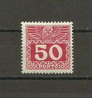 Austria - Porto 1908/13 - Mi. 43 MH (*) - Portomarken