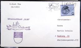 """ALLEMAGNE Rep.Fédérale - BUND - Brief Mit Schiffspost-Stempeln, Dabei """" ULM """" - [7] West-Duitsland"""