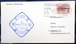 """ALLEMAGNE Rep.Fédérale - BUND - Brief Mit Schiffspost-Stempeln, Dabei """" FLENSBURG """" - [7] West-Duitsland"""