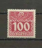 Austria - Porto 1908/13 - Mi. 44 MH (*) - Portomarken