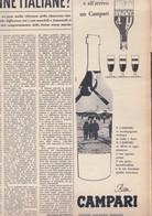 (pagine-pages)PUBBLICITA' CAMPARI  Tempo1958/22. - Books, Magazines, Comics