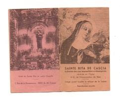 Livret De 12 Pages Sainte Rita De Cascia Prière Très Efficace, S.O.S à Sainte Rita, Prière De Remerciement... - Images Religieuses