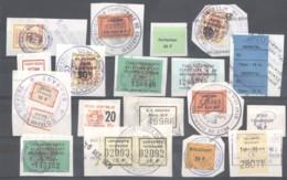 CITY REVENUES BELGIUM - Small Lot - (863928) Interesting Lot. - Revenue Stamps