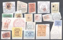 CITY REVENUES BELGIUM - Small Lot - (863929) Interesting Lot. - Revenue Stamps