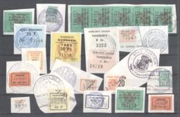 CITY REVENUES BELGIUM - Small Lot - (863931) Interesting Lot. - Revenue Stamps