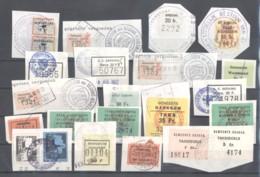 CITY REVENUES BELGIUM - Small Lot - (863932) Interesting Lot. - Revenue Stamps