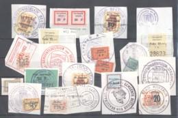 CITY REVENUES BELGIUM - Small Lot - (863933) Interesting Lot. - Revenue Stamps
