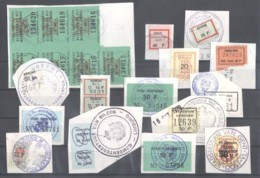 CITY REVENUES BELGIUM - Small Lot - (863935) Interesting Lot. - Revenue Stamps