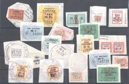 CITY REVENUES BELGIUM - Small Lot - (863936) Interesting Lot. - Revenue Stamps