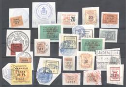 CITY REVENUES BELGIUM - Small Lot - (863937) Interesting Lot. - Revenue Stamps