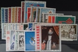 MONACO ANNEE COMPLETE 1968 COTE 47 € NEUFS ** MNH N° 736 à 771 Soit 36 Timbres. TB - Annate Complete