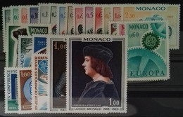 MONACO ANNEE COMPLETE 1967 COTE 37 € NEUFS ** MNH N° 708 à 735 Soit 28 Timbres. TB - Annate Complete