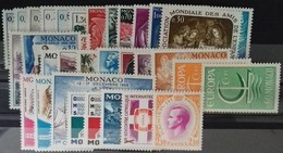 MONACO ANNEE COMPLETE 1966 COTE 28 € NEUFS ** MNH N° 677 à 707 Soit 31 Timbres. TB - Annate Complete