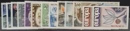 MONACO ANNEE COMPLETE 1965 COTE 21 € NEUFS ** MNH N° 664 à 676 Soit 13 Timbres. TB - Annate Complete