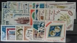 MONACO ANNEE COMPLETE 1964 COTE 29 € NEUFS ** MNH N° 636 à 663 Soit 28 Timbres. TB - Annate Complete