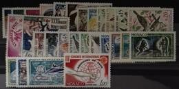 MONACO ANNEE COMPLETE 1962 COTE 38 € NEUFS ** MNH N° 571 à 598 Soit 28 Timbres. TB - Annate Complete
