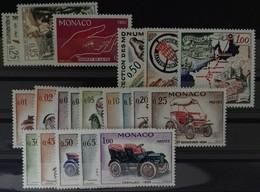 MONACO ANNEE COMPLETE 1961 COTE 33 € NEUFS ** MNH N° 551 à 570 Soit 20 Timbres. TB - Annate Complete