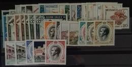 MONACO ANNEE COMPLETE 1960 COTE 90 € NEUFS ** MNH N° 523 à 550 A Soit 38 Timbres. TB - Annate Complete
