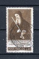VATICANO :  San Benedetto Patrono D'Europa - £ 40  Usato   Del   2.07.1965 - Vatican