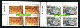 2020- Tunisie - Peintures Rupestres: Djebel Ousselet (Oueslatia) - Djebel Bliji (Tamaghza)- Bloc De 4-  Coin Daté MNH** - Tunesië (1956-...)