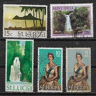 1970 Santa Lucia Paisajes-reina 5v. - St.Lucia (1979-...)
